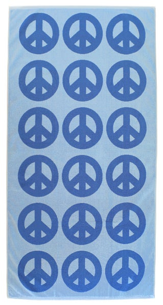 Image of Peace Towel <div> Sky Blue & French Blue</div>