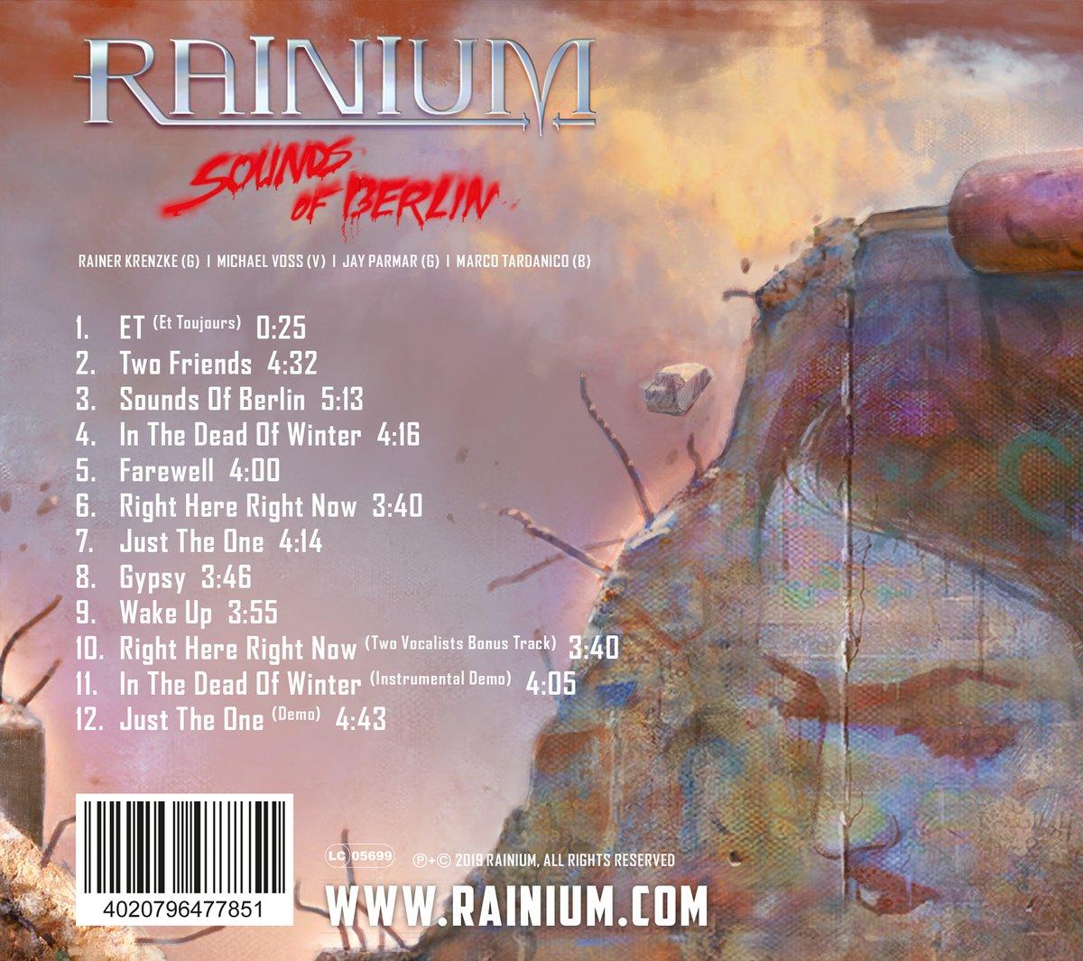 Image of Sounds Of Berlin, RAINIUM, Audio CD Digipack