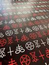 AshemaDeva Satanic Symbols Wrapping Paper