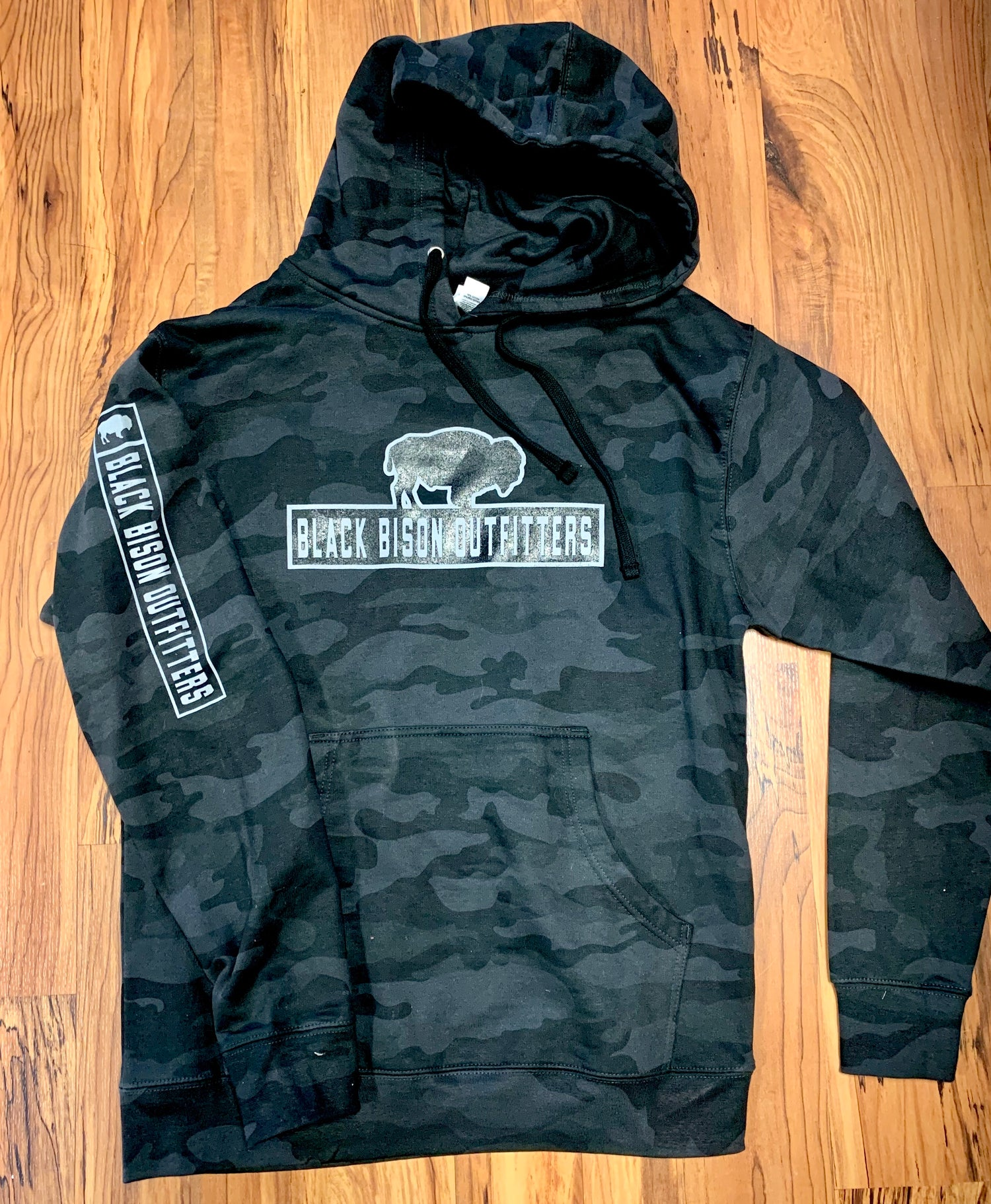 Image of BISON BLACKOUT CAMO HOODIE