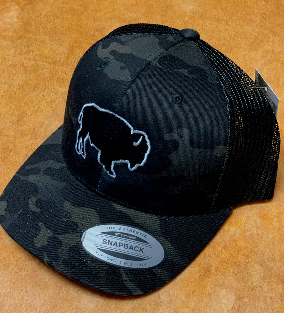 Image of BLACKOUT BISON CAMO SNAPBACK
