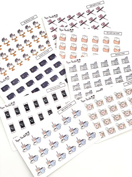 Image of Mini Individual Sheet Planner Icons Set 2