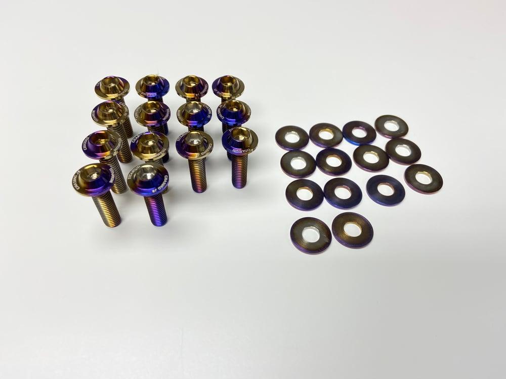 Mitsubishi EVO X titanium valve cover hardware kit