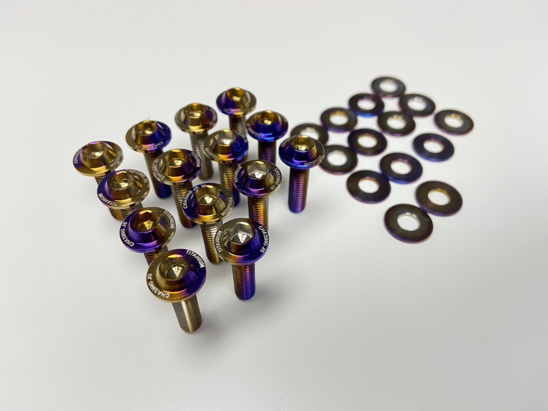Image of Mitsubishi EVO X titanium valve cover hardware kit