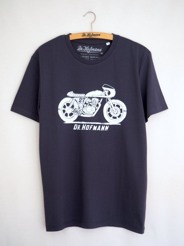 "Image of ""CAFE RACER""  - Organic Cotton - Blue Grey"