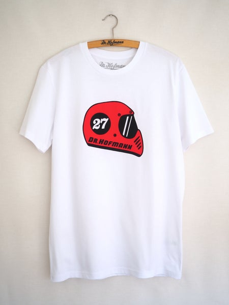 "Image of ""RETRO HELMET - Organic cotton - White"