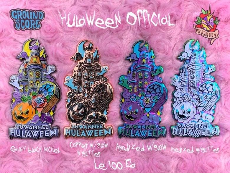 Image of Official Suwannee Hulaween 2019 'Hula Manor' Pin
