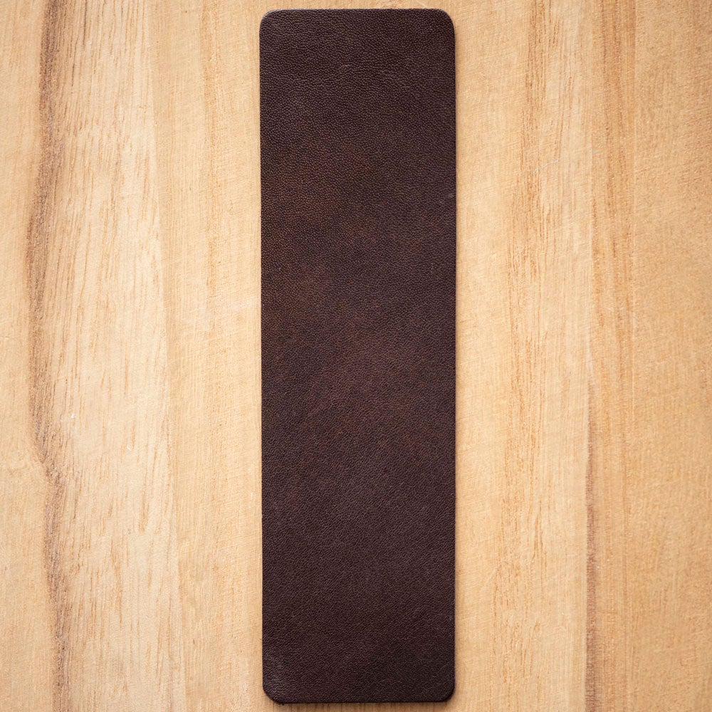 Image of Handmade Kangaroo leather bookmark - dark brown