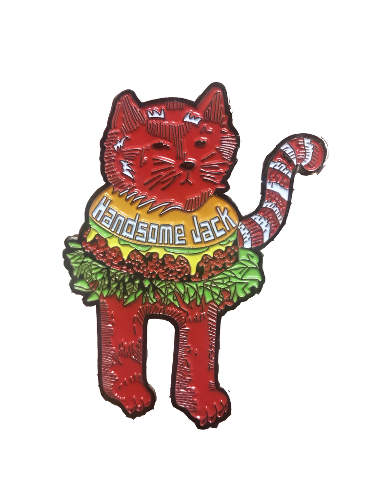 Image of Cheeseburger Cat Enamel Pin