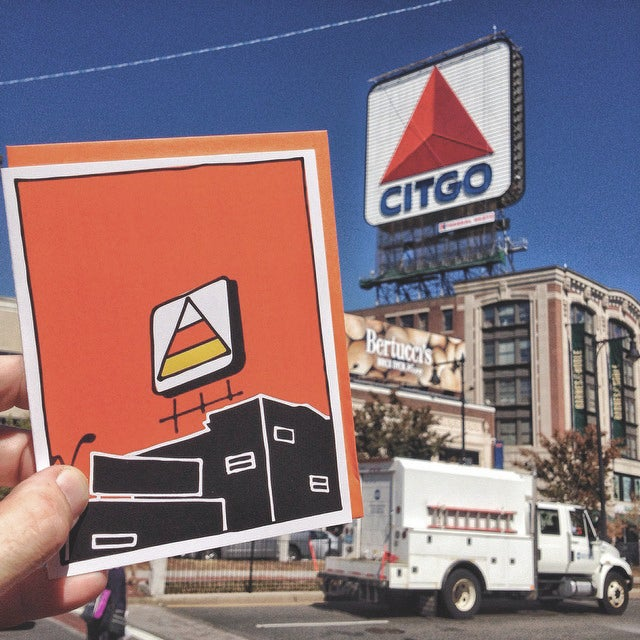 Image of Candy Corn Over Kenmore Square