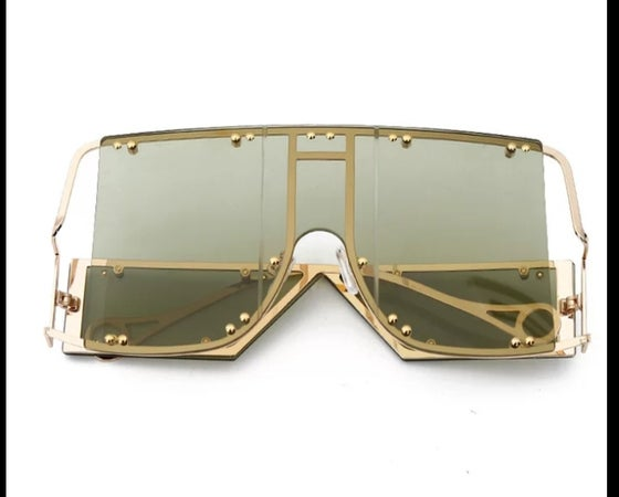 Image of Luxury Oversized Mirror Glasses