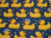 Image of Ducks and Bubbles Throw Blanket (1 In Stock)