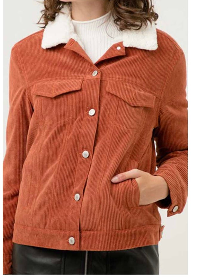 Image of Corduroy Sherpa Lined Jacket