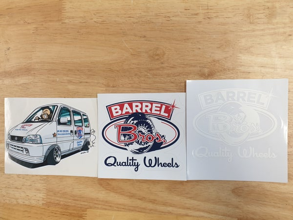 Image of Assorted Barrel Bros Stickers.