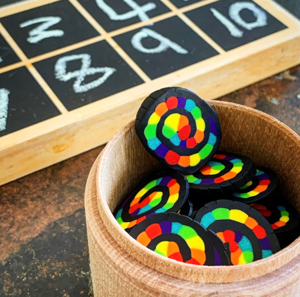 Image of Maths Counters (Rainbow Shells)