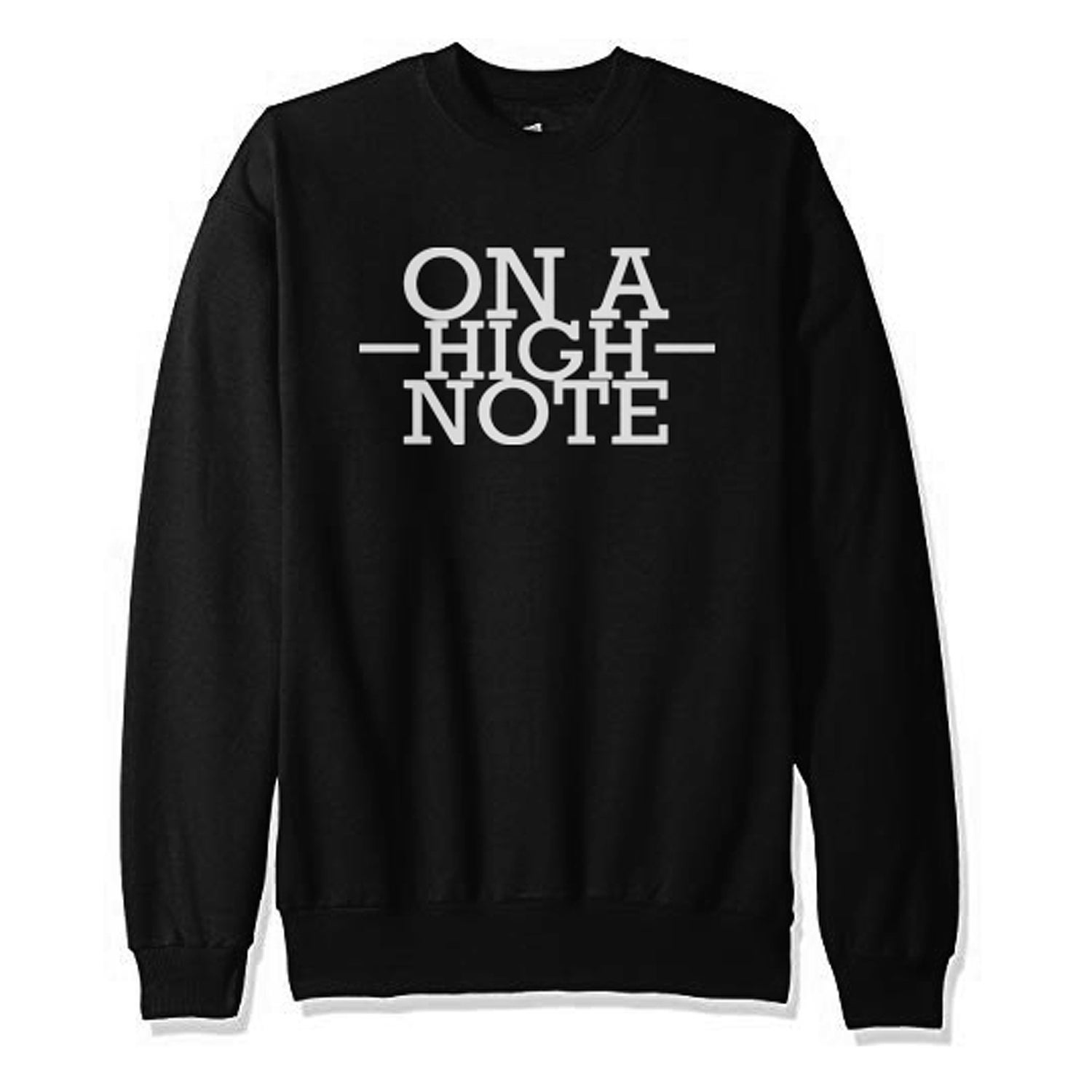 Image of On A High Note Stack Crew Neck Sweater