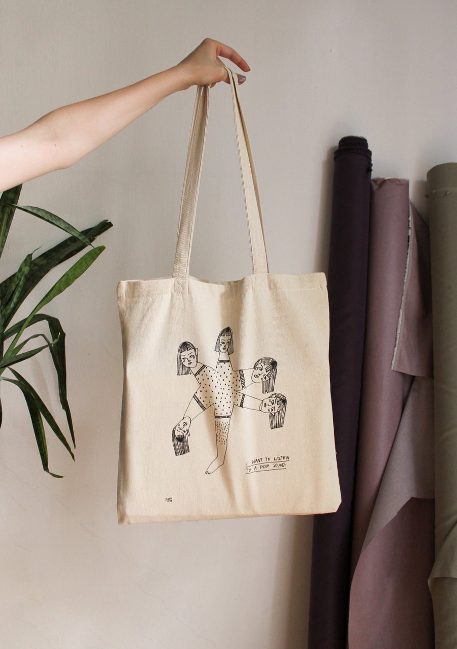 """Image of """"Haha in French"""" tote bag"""