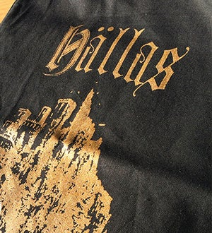 Image of *NEW* HÄLLAS COTTON BAG - GOLD METAL EDITION