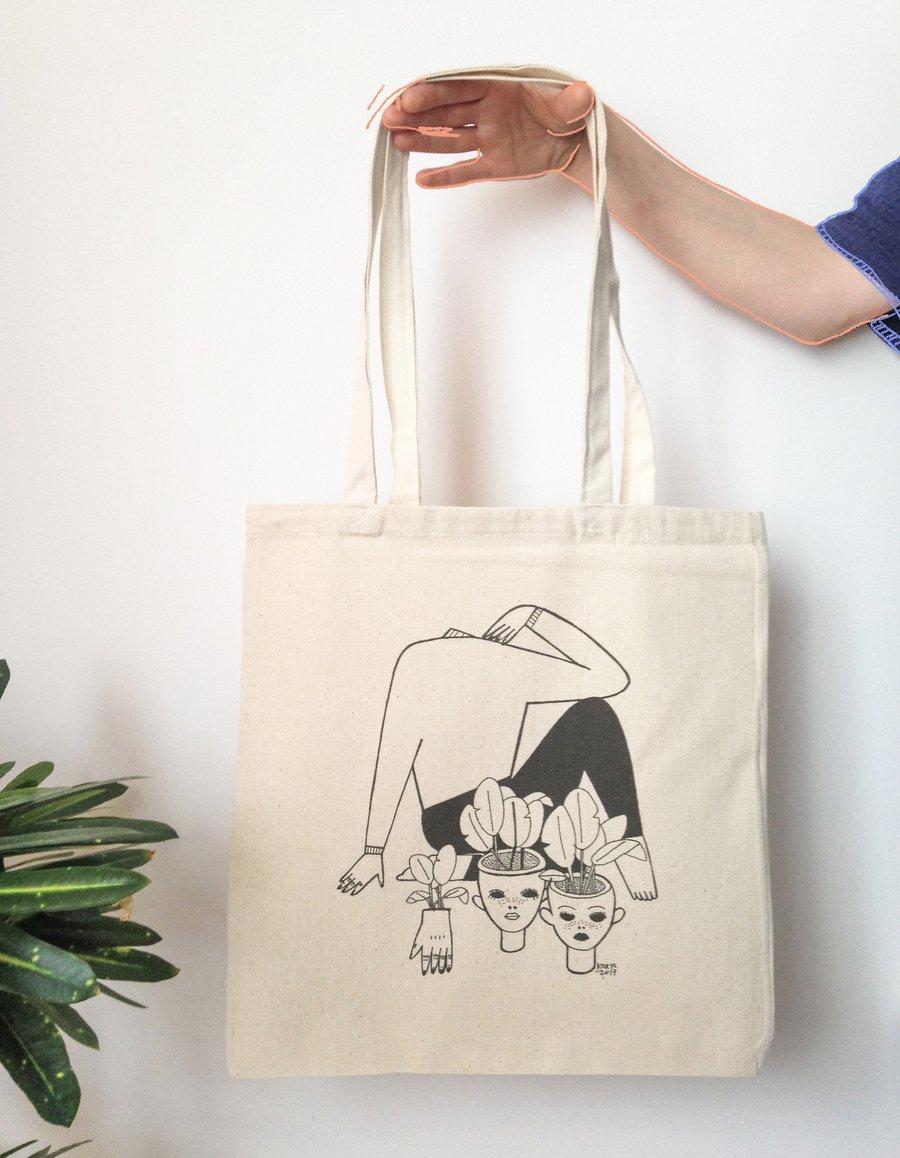 "Image of ""Strange"" tote bag"