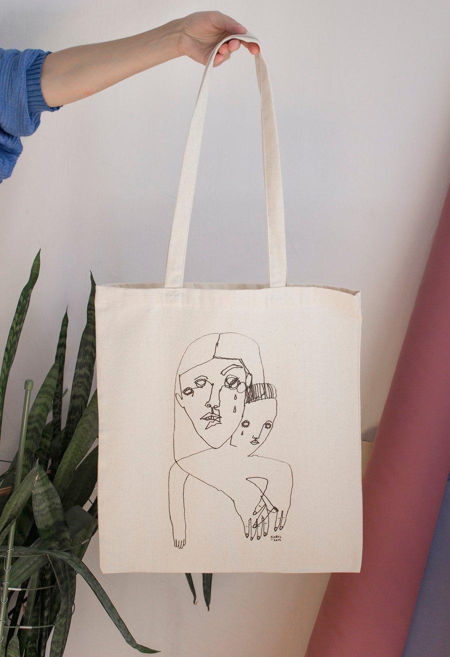 """Image of """"000"""" tote bag"""