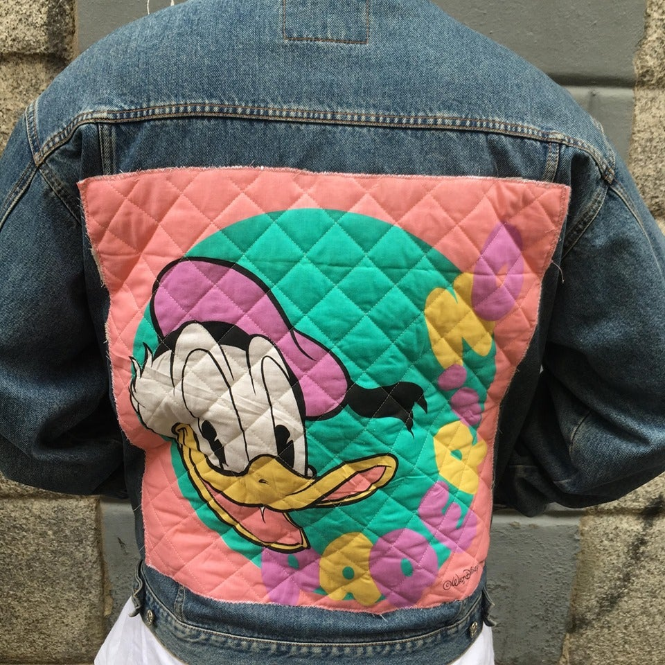 Image of Donald Duck Patch Denim Jacket