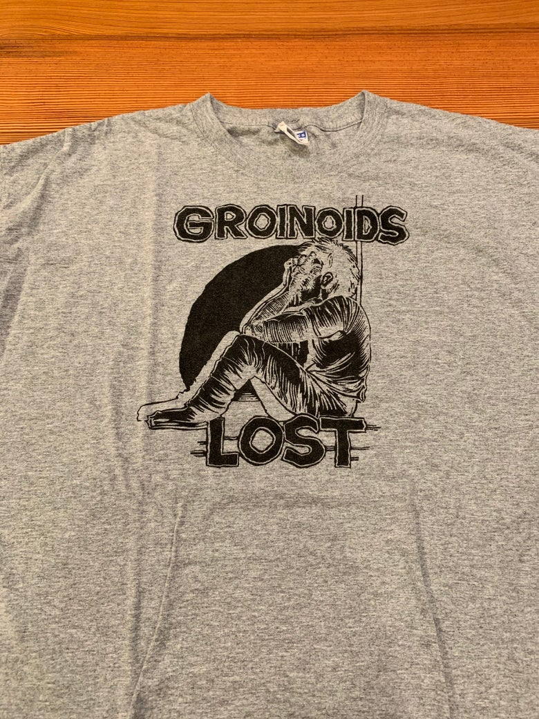 """Image of Groinoids """"Lost"""" Shirt One Left Size Large"""