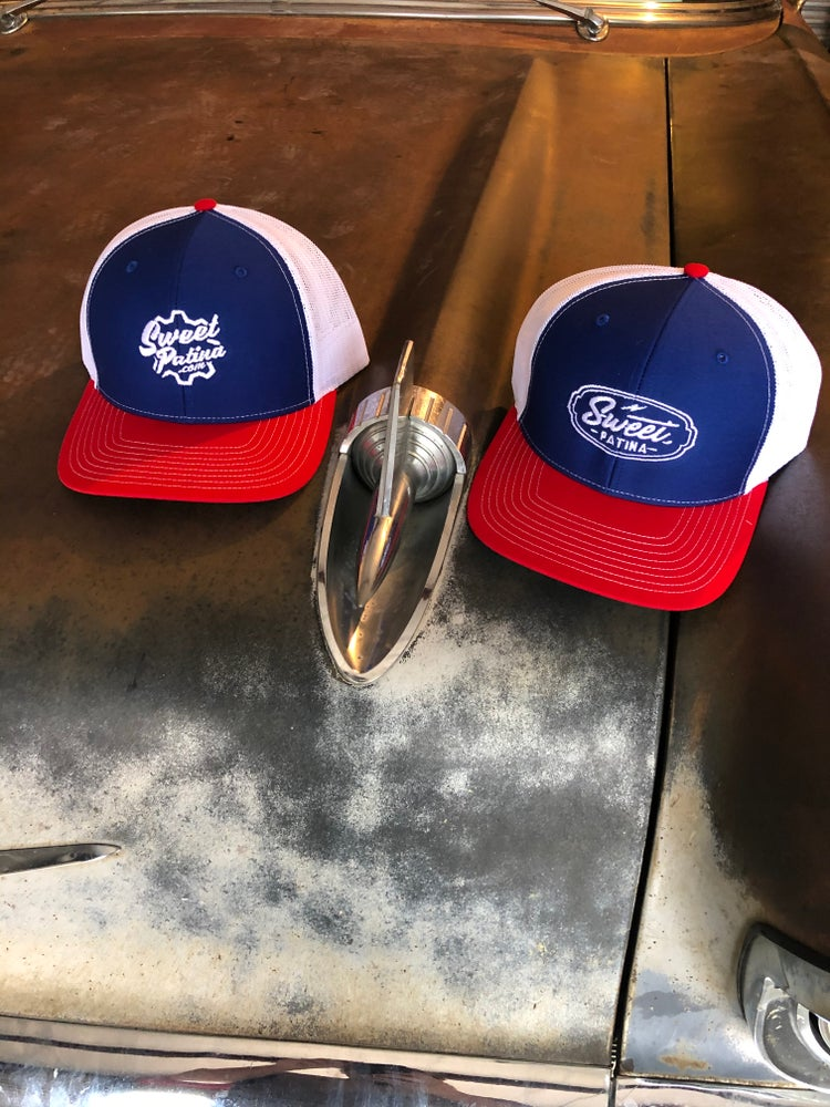Image of Red, White and Blue trucker hat
