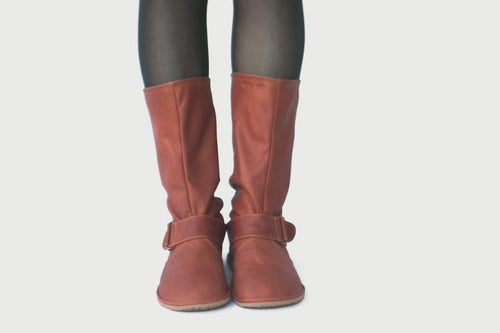 Image of Slouchy boots in Soft Matte Cognac