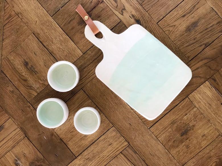 Image of Set de aperitivo verde agua