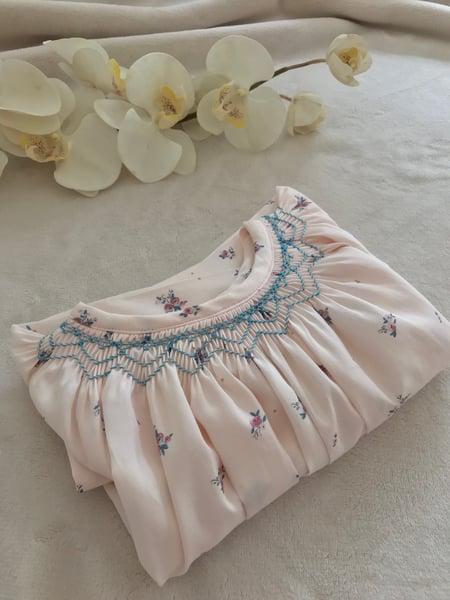 Image of Blouse Emy - Victorine Vert - Sous Le Figuier Fabrics