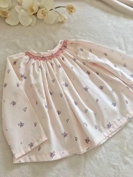 Image of Blouse Emy - Victorine Rose- Sous Le Figuier Fabrics