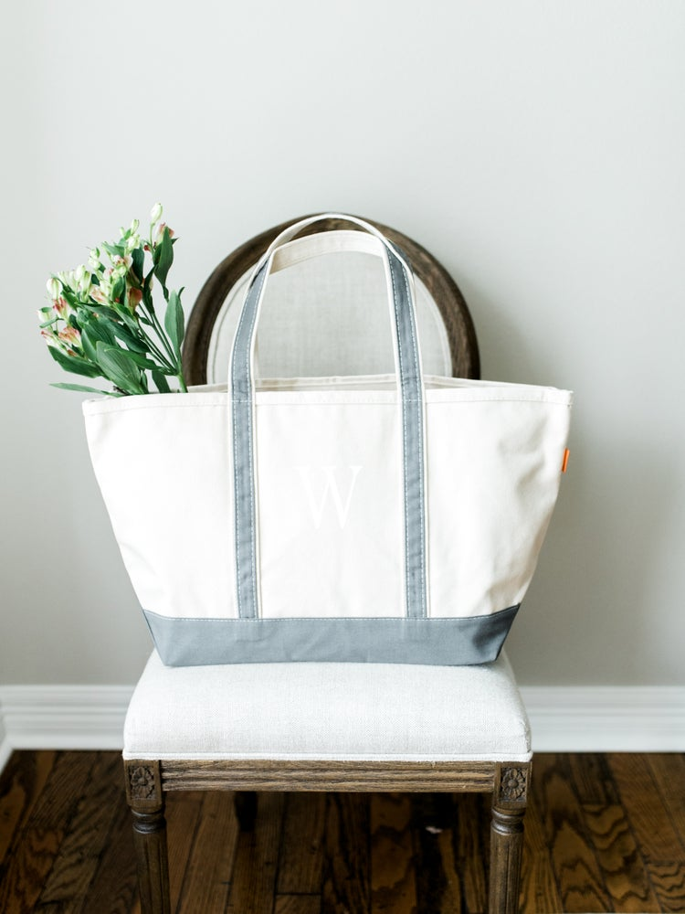Image of MONOGRAM XL CANVAS BOAT TOTE