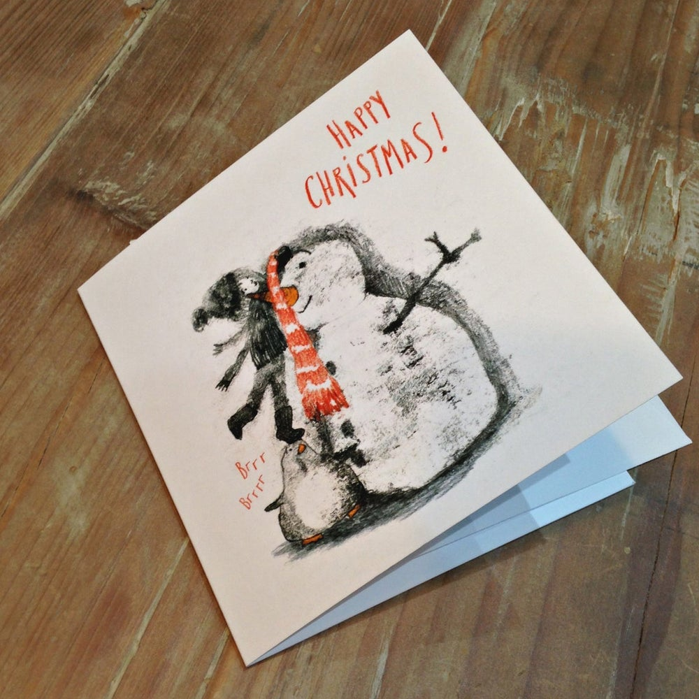 Image of Monoprinted Christmas Cards