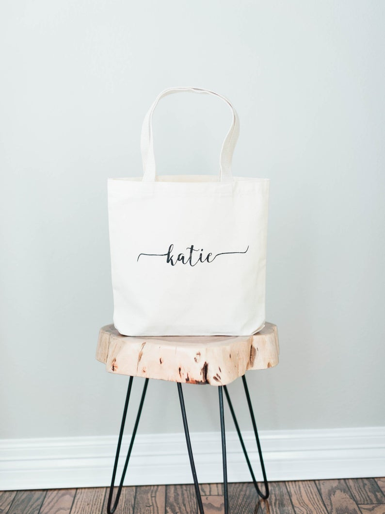 HAND PAINTED MEDIUM TOTE BAG