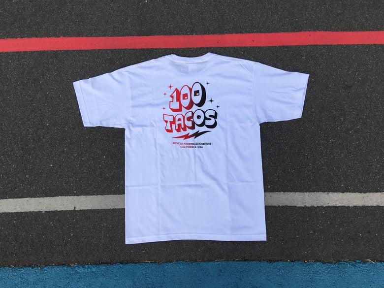 Image of A 100 Tacos Pocket T-shirt