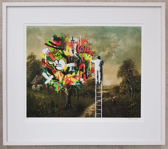 Image of MARTIN WHATSON - HIGH UP - UNIQUE HAND FINISHED PRINT CUSTOM FRAMED - LTD EDITION 50