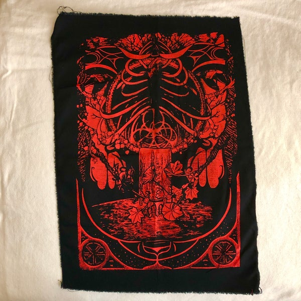 Image of SOLD OUT / Red Back Patch - large (Alcea Design)