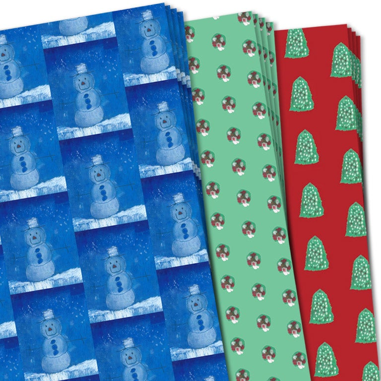 Image of Christmas Holiday Assortment Wrapping Sheets