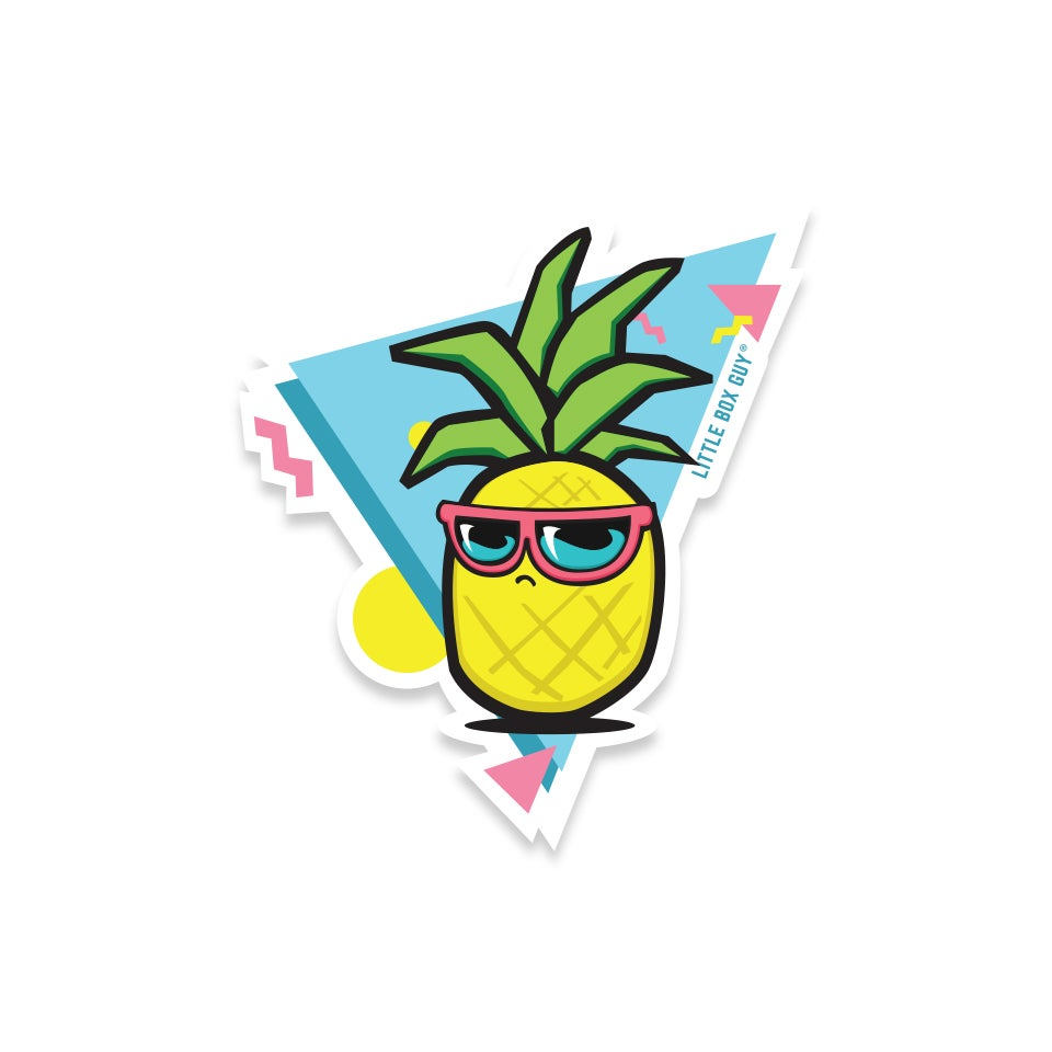 Image of 90's Pineapple (Die-Cut Sticker)