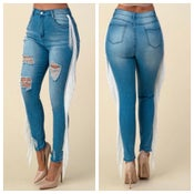 Image of Ruffled jeans