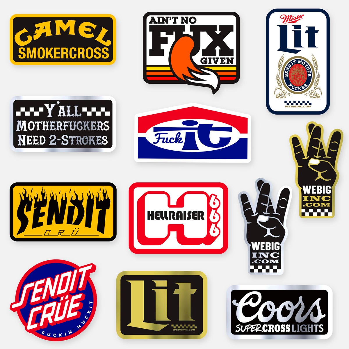 Image of WEBIG STICKERS 12-PACK