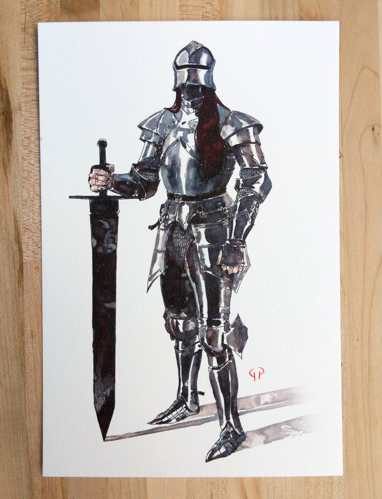 Image of Old Knight Print