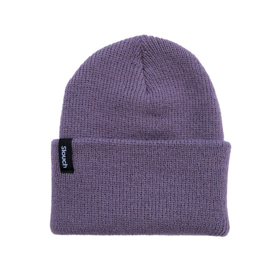 Image of Purple Knit Cuff Beanie
