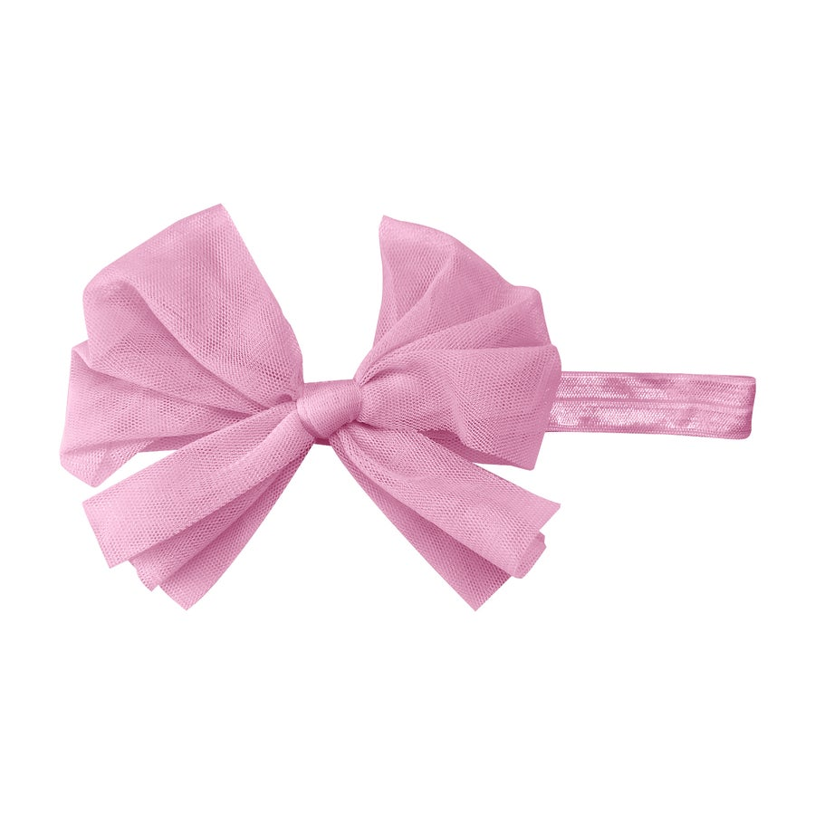 Image of Ballet Slipper Tulle Baby Bow Headband
