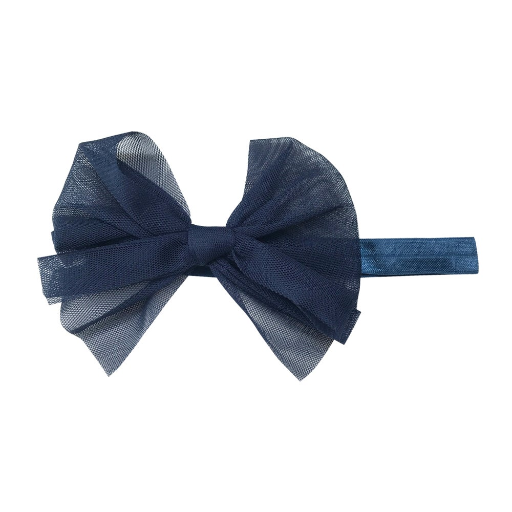 Image of Nutcracker Tulle Baby Bow Headband