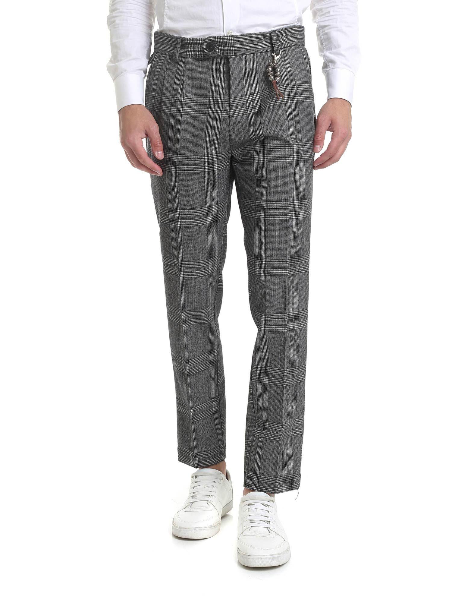 Image of Pantalone R101 quadri grigio