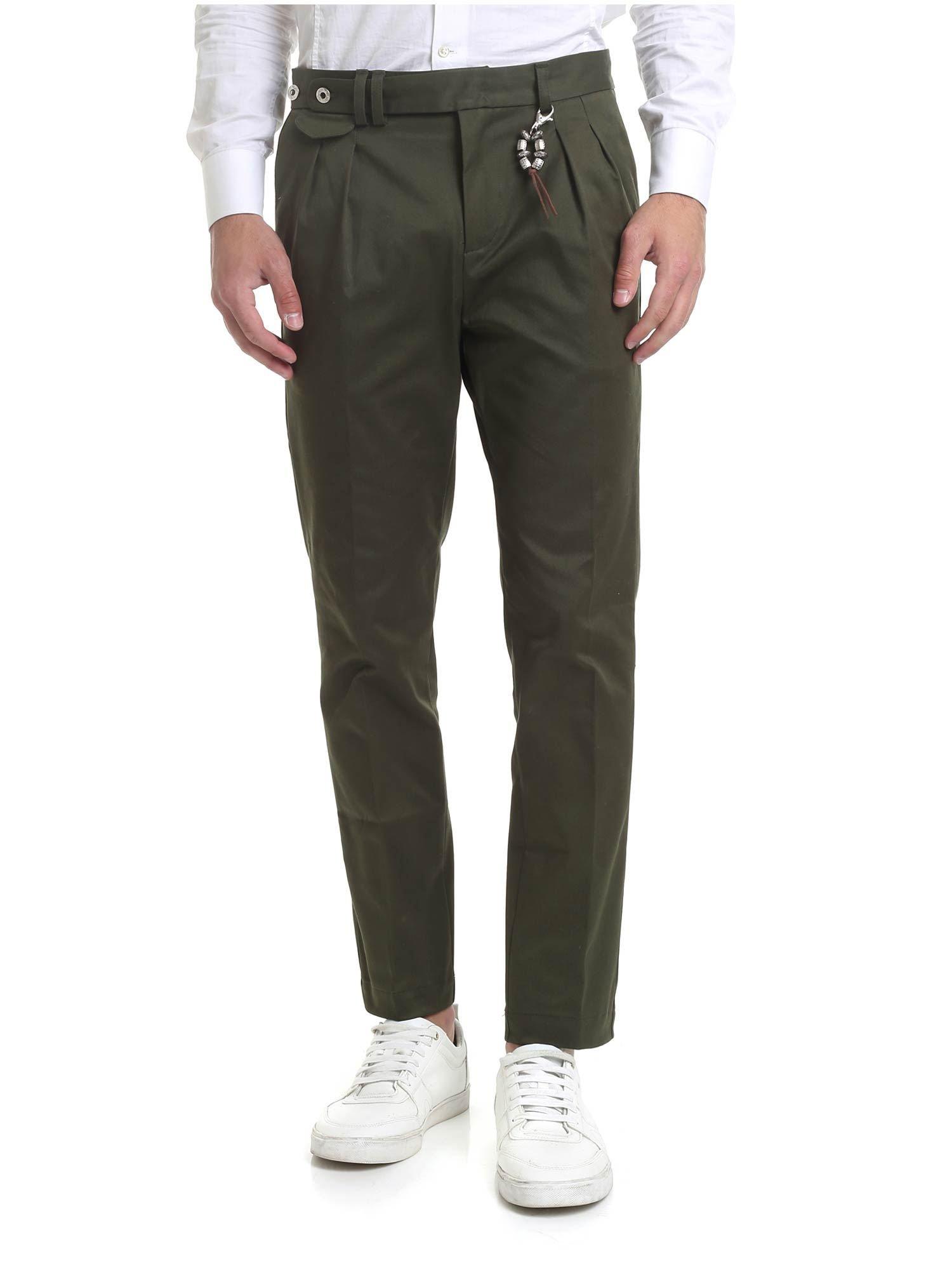 Image of Pantalone R96 verde doppia pences