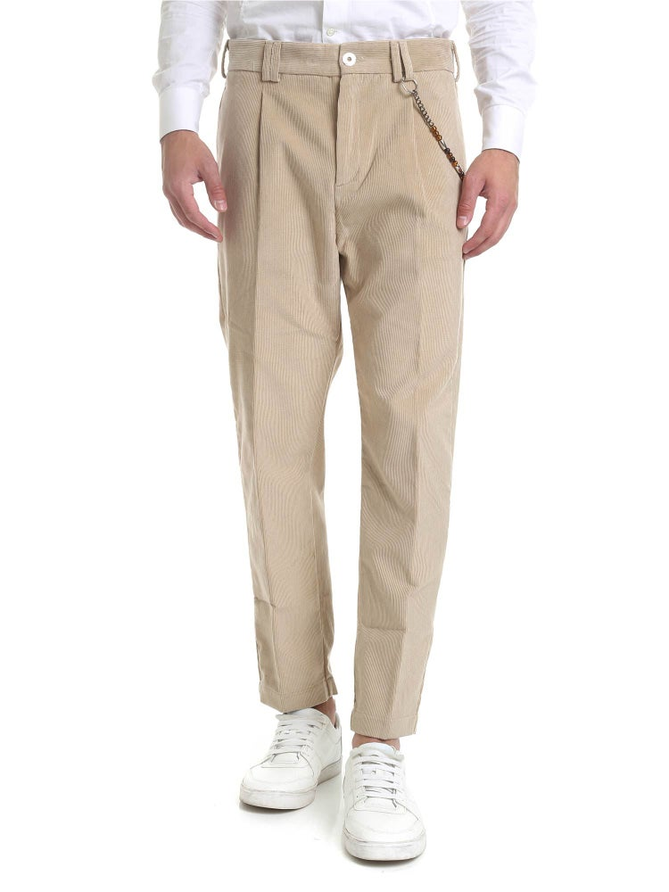 Image of Pantalone R100 velluto beige