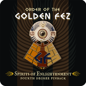 Image of Order of the Golden Fez Fourth Degree Spirits of Enlightenment Enameled Pin