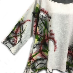 "Image of Lisa Top - ""Celebration"" - Hand Painted Design - Linen/Rayon"